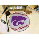 "27"" Round Kansas State Wildcats Baseball Mat"