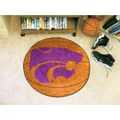 "27"" Round Kansas State Wildcats Basketball Mat"