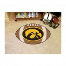"22"" x 35"" Iowa Hawkeyes Football Mat"