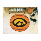 "27"" Round Iowa Hawkeyes Basketball Mat"