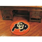 "27"" Round Colorado Buffaloes Basketball Mat"