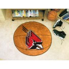 "27"" Round Ball State Cardinals Basketball Mat"