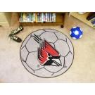 """27"""" Round Ball State Cardinals Soccer Mat"""