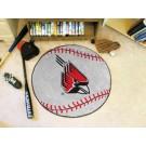 """27"""" Round Ball State Cardinals Baseball Mat"""