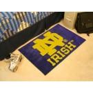 "Notre Dame Fighting Irish 19"" x 30"" Starter Mat (with ""ND"")"