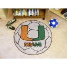 "Miami Hurricanes 27"" Round Soccer Mat"