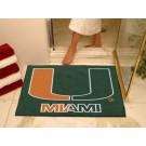 "Miami Hurricanes 34"" x 45"" All Star Floor Mat"