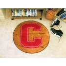 "27"" Round Cornell Big Red Bears Basketball Mat"