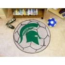 """27"""" Round Michigan State Spartans Soccer Mat"""