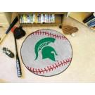 "27"" Round Michigan State Spartans Baseball Mat"