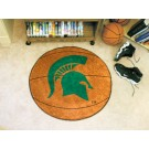 "27"" Round Michigan State Spartans Basketball Mat"