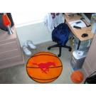 "27"" Round Southern Methodist (SMU) Mustangs Basketball Mat"