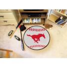 "27"" Round Southern Methodist (SMU) Mustangs Baseball Mat"
