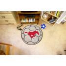 "27"" Round Southern Methodist (SMU) Mustangs Soccer Mat"