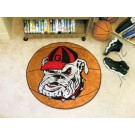 "Georgia Bulldogs ""Bulldog"" 27"" Round Basketball Mat"