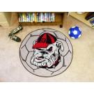 "Georgia Bulldogs ""Bulldog"" 27"" Round Soccer Mat"