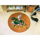 "Miami Hurricanes 27"" Round Basketball Mat"
