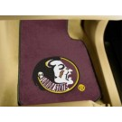 """Florida State Seminoles 17"""" x 27"""" Carpet Auto Floor Mat (Set of 2 Car Mats) (Maroon)"""