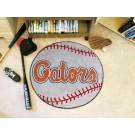 """27"""" Round Florida Gators Baseball Mat (with """"Gators"""")"""