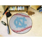 "27"" Round North Carolina Tar Heels Baseball Mat (with ""NC"")"