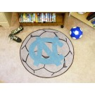 "27"" Round North Carolina Tar Heels Soccer Mat (with ""NC"")"