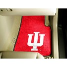 "Indiana Hoosiers 17"" x 27"" Carpet Auto Floor Mat (Set of 2 Car Mats)"