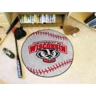 "Wisconsin Badgers 27"" Round Baseball Mat"