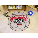 "Wisconsin Badgers 27"" Round Soccer Mat"