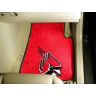 "Ball State Cardinals 17"" x 27"" Carpet Auto Floor Mat (Set of 2 Car Mats)"