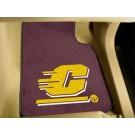 """Central Michigan Eagles 17"""" x 27"""" Carpet Auto Floor Mat (Set of 2 Car Mats)"""
