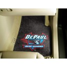 "DePaul Blue Demons 17"" x 27"" Carpet Auto Floor Mat (Set of 2 Car Mats)"