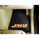"James Madison Dukes 17"" x 27"" Carpet Auto Floor Mat (Set of 2 Car Mats)"