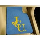 """John Carroll Blue Streaks 17"""" x 27"""" Carpet Auto Floor Mat (Set of 2 Car Mats)"""