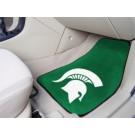 "Michigan State Spartans 17"" x 27"" Carpet Auto Floor Mat (Set of 2 Car Mats)"