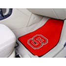 "North Carolina State Wolfpack 17"" x 27"" Carpet Auto Floor Mat (Set of 2 Car Mats)"