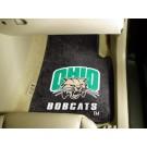 """Ohio Bobcats 27"""" x 18"""" Auto Floor Mat (Set of 2 Car Mats)"""