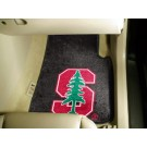 "Stanford Cardinal 17"" x 27"" Carpet Auto Floor Mat (Set of 2 Car Mats)"