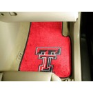 "Texas Tech Red Raiders 17"" x 27"" Carpet Auto Floor Mat (Set of 2 Car Mats)"