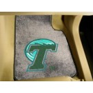 "Tulane Green Wave 17"" x 27"" Carpet Auto Floor Mat (Set of 2 Car Mats)"
