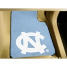 "North Carolina Tar Heels 17"" x 27"" Carpet Auto Floor Mat (Set of 2 Car Mats - with ""NC"")"