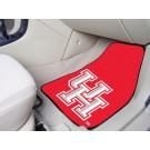 "Houston Cougars 17"" x 27"" Carpet Auto Floor Mat (Set of 2 Car Mats)"