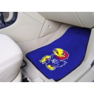"Kansas Jayhawks 17"" x 27"" Carpet Auto Floor Mat (Set of 2 Car Mats)"