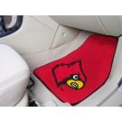 """Louisville Cardinals 17"""" x 27"""" Carpet Auto Floor Mat (Set of 2 Car Mats)"""