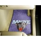 "Maine Black Bears 17"" x 27"" Carpet Auto Floor Mat (Set of 2 Car Mats)"