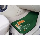 "Miami Hurricanes 27"" x 18"" Auto Floor Mat (Set of 2 Car Mats)"