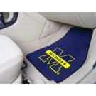 "Michigan Wolverines 17"" x 27"" Carpet Auto Floor Mat (Set of 2 Car Mats)"