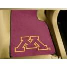 """Minnesota Golden Gophers 17"""" x 27"""" Carpet Auto Floor Mat (Set of 2 Car Mats)"""