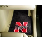 """Nebraska Cornhuskers 17"""" x 27"""" Carpet Auto Floor Mat (Set of 2 Car Mats)"""
