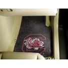 """South Carolina Gamecocks 17"""" x 27"""" Carpet Auto Floor Mat (Set of 2 Car Mats)"""