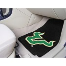 "South Florida Bulls 17"" x 27"" Carpet Auto Floor Mat (Set of 2 Car Mats)"